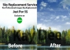 Do Professional Sky Replacement In 4 Images