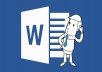 do any type of work using Ms word