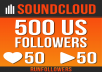 Do Professional Soundcloud Promotion 500+ real US SoundCloud followers +50 likes +50 reposts