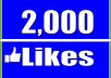 give 2000 Facebook Fan Page LIKES Permanent
