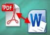 convert your PDF files into Word files
