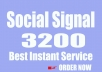 Give Best Instant 3200 Social Signals Monster Pack improving website