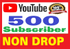 Guarantee 500 youtube subscribers active channel fully safe very fast complete