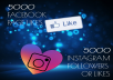 give you 5000 Likes Instagram in quick time