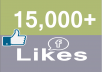 give 15,000 Facebook Fan Page LIKES Permanent