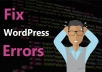 fix wordpress issue and wordpress errors