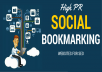 do 150 High PR Social Bookmarking