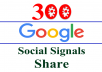 give you 300 Google+ Share/SEO Social Signals/Bookmarks/Backlinks for Site,Video,.. Different Google Accounts split available
