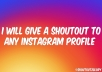 give a shoutout to any Instagram profile