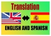 translate 500 words, English to Spanish,