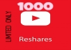 give 100 Reshares for your Youtube Video