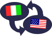 efficiently translate ENGLISH-ITALIAN or ITALIAN-ENGLISH