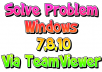 fix Windows Problems through Teamviewer
