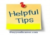 give you healthy lifestyle tips without any special requirements