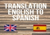 Translate 250 words from English to Spanish