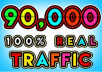 DRIVE 90000+ TARGETED Human Traffic to your Website or Blog