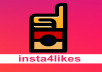 I send 30 Instagram likes from REAL Instagram profiles. You can check quality of my profiles on first 10 likes, they come for free so 40 likes from great INSTAGRAM profiles in total.
