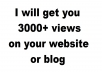 Give any website 3000 real views