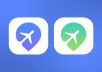 make one custom flat app ICON