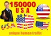 DRIVE 150,000+ USA TARGETED Human Traffic to your Website or Blog