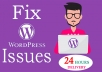 fix any kind of WordPress issues