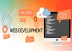 Develop websites and correct HTML pages for $5