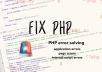 Fix Any PHP Error In 24 Hours