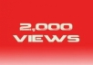 add 2000 YouTube Views real and active fans in 3hrs no bots user