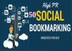 50 Quality Social Bookmarking Backlinks