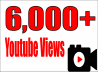 give 6,000 super high quality YouTube Views real and permanent