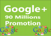 Promote your Link to 90 Millions Google Plus Groups Peoples