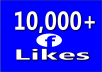 give 10,000+ Facebook Fan Page LIKES Permanent