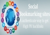 Do 50 Social Bookmarking Authority Backlinks High Quality And High Pr Sites