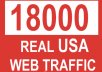 deliver 18000 safe and real USA website or blog visitors