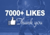 give 7,000+ Facebook Fan Page LIKES Permanent