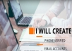 create 20 Email Accounts