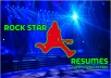 help you create a rock star resume, cv, or cover letter