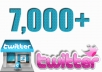 Twitter is the most Social media marketing site , I have big Social Media team , will add 7,000++ Real and active Twitter Follower for your any Twitter account , (Don't need password)  100% real and active ... Delivered In within 24 hours Thanks Buy now !