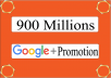 Are you promote Your Business, links, websites, pictures, videos, products, etc to Millions of peoples then you are in the Right Place. I WILL Blast your Url.picture,video,ads,link to 900 Millions+ google plus Groups Members. Your link will be posted on big Google+ Communities. Each community has 200 or 400 million members. All Users are Real & active. This will Boost, Promote or Advertise your Business, Website, Apps, E-Books, Photo, Affiliate links, Products, Youtube, EBay/Amazon Items and Products,Shop,Pages,Video or Any other Link. This will also Boost your WEBSITE Rank and also you will get genuine traffic, Because 700 Millions+ people reach your URL. This would be work as your Site Backlinks. Google plus is a top Rated social network, USA, Canada and many other western countries.  I WILL SEND YOU A SCREEN-SHOTS or Url AFTER THE WORK HAS BEEN COMPLETED.