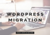 We will migrate or clone your WordPress website. If you are having any problem with your current hosting and want to migrate or clone your WordPress website from one host to another. Or you to make a clone of your WordPress site, You are the right place. 