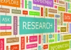 do research for any project you like.