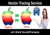 do vector tracing, convert raster to vector, vectorize your blur logo, icon or sketch within 12 Hours.