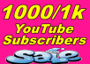 Hello, everyone, You will get very good real 500+ YouTube subscribers within 48-72 Hours, It is 100% real active manually provide you, if this drop or any problem you will get promised guaranteed full fix, so if you need this service so please you can now order me or if you have any question any time inbox me thank you.