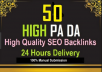 provide 50 high DA PA quality backlinks through my blog comment services