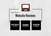 Review Your Website And Suggest Viable Improvements