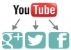 Provide You 500+ Youtube Video Share to Promote Your You Tube Channel