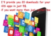 provide you 20 downloads for your iOS app