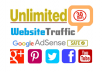 drive unlimited traffic visitors to your website