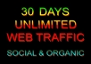 drive unlimited web traffic , visitors to your website