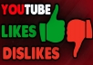 give 800+ YouTube Likes+200 Dislikes Fast, Non-Drop & Safe within 1-2h